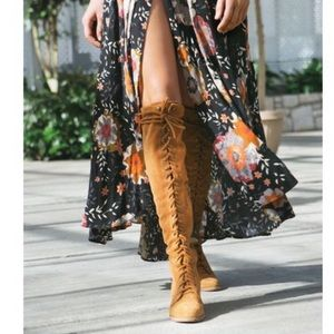 JEFFERY CAMPBELL FOR FREE PEOPLE JOE LACE UP BOOTS